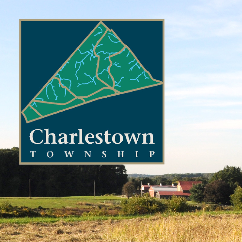 Charlestown Township Logo and Brightside Farm, part of the Charlestown Township Parks System